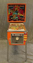 Gotlieb's Sinbad Pinball Machine, (Machine Lights Up, Key for Head Unit, Key Broken off in Keyhole in Coin Drop), 69 1/2