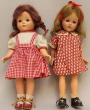 PAIR OF EFFANBEE COMPOSITION DOLLS:  PATRICIA & ANNE SHIRLEY.