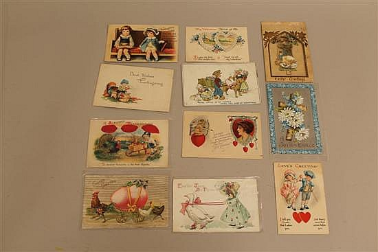 LOT OF (26) VINTAGE HOLIDAY POSTCARD/TYPE CARDS - (9