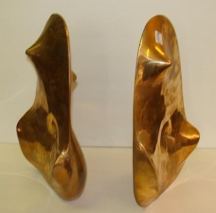 Leopoldo Novoa (Spanish b.1919) TWO (2) ABSTRACT FORMS Bronze