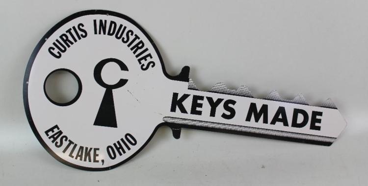 Keys Made Metal Advertising Sign
