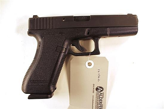 "Glock 22 semi-automatic pistol. Cal. 40 S&W. 4-1/2"" bbl. SN AEY213US. Matte finish on slide, polymer frame, excellent bore. In origi..."