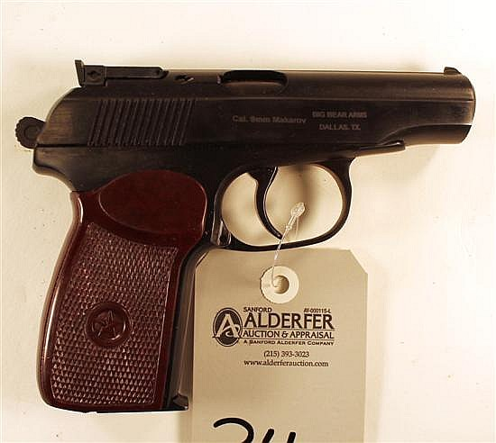 """Russian IJ70-18A Makarov semi-automatic pistol. Cal. 9 x 18 mm. 4"""" bbl. SN A0T2119. Blued finish on metal, brown plastic grips show..."""
