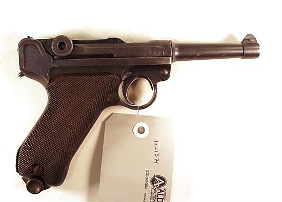Erfurt Royal Arsenal PO8 Luger semi-automatic pistol. Cal. 9 mm. 4