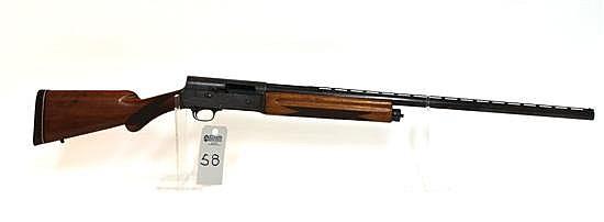 "Browning Arms Co. Auto 5 Light Twelve semi-automatic shotgun. 12 ga. 29-1/2"" bbl. 2-3/4"" chamber. Full choke. SN 3G13755. Reblued fi..."