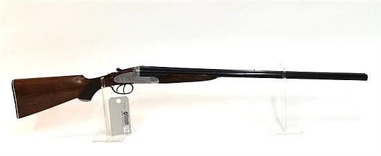"Italian Belleri Antonio Ponte Zanano custom side by side double barrel shotgun. 12 ga. 28-1/4"" bbls. SN 8492. Blued finish on barrel..."