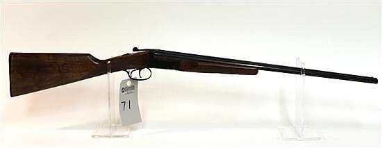 "E.R. Amantino Uplander side by side double barrel shotgun. 410 ga. 24"" bbls. 3"" chambers. SN 518759-03. Blued finish on metal, check..."