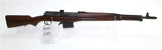 "Egyptian Hakim semi-automatic rifle. Cal. 8.57 mm. 24"" bbl. SN 2644. Blued finish on metal, wood stock shows various handling marks..."