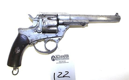 "R. Fabb. D'Armi Brescia Model 1886 military revolver. Cal. 11 mm. 6-1/4"" bbl. SN NQ578. Good."