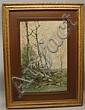Theophile de Bock. Landscape, watercolor, 19