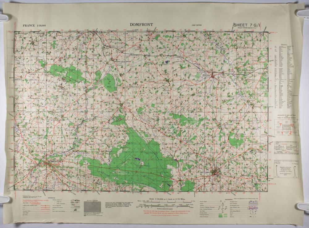 GEN. CLARENCE R. HUEBNER'S WAR DEPARTMENT MAPS OF NORMANDY (4)
