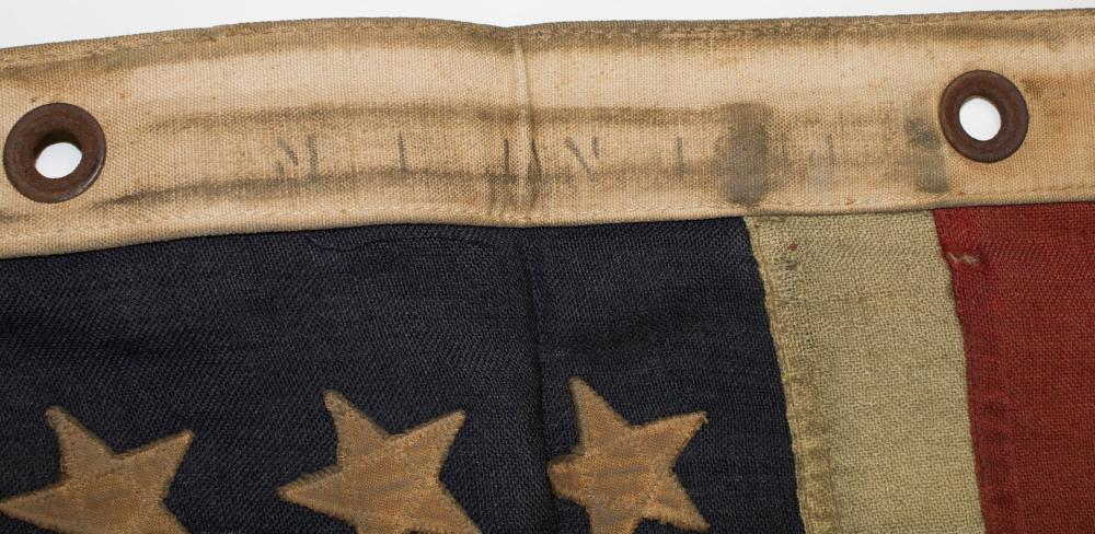 IWO JIMA BATTLE DIARY, MINESWEEPER FLAG, AND SAILOR'S EFFECTS