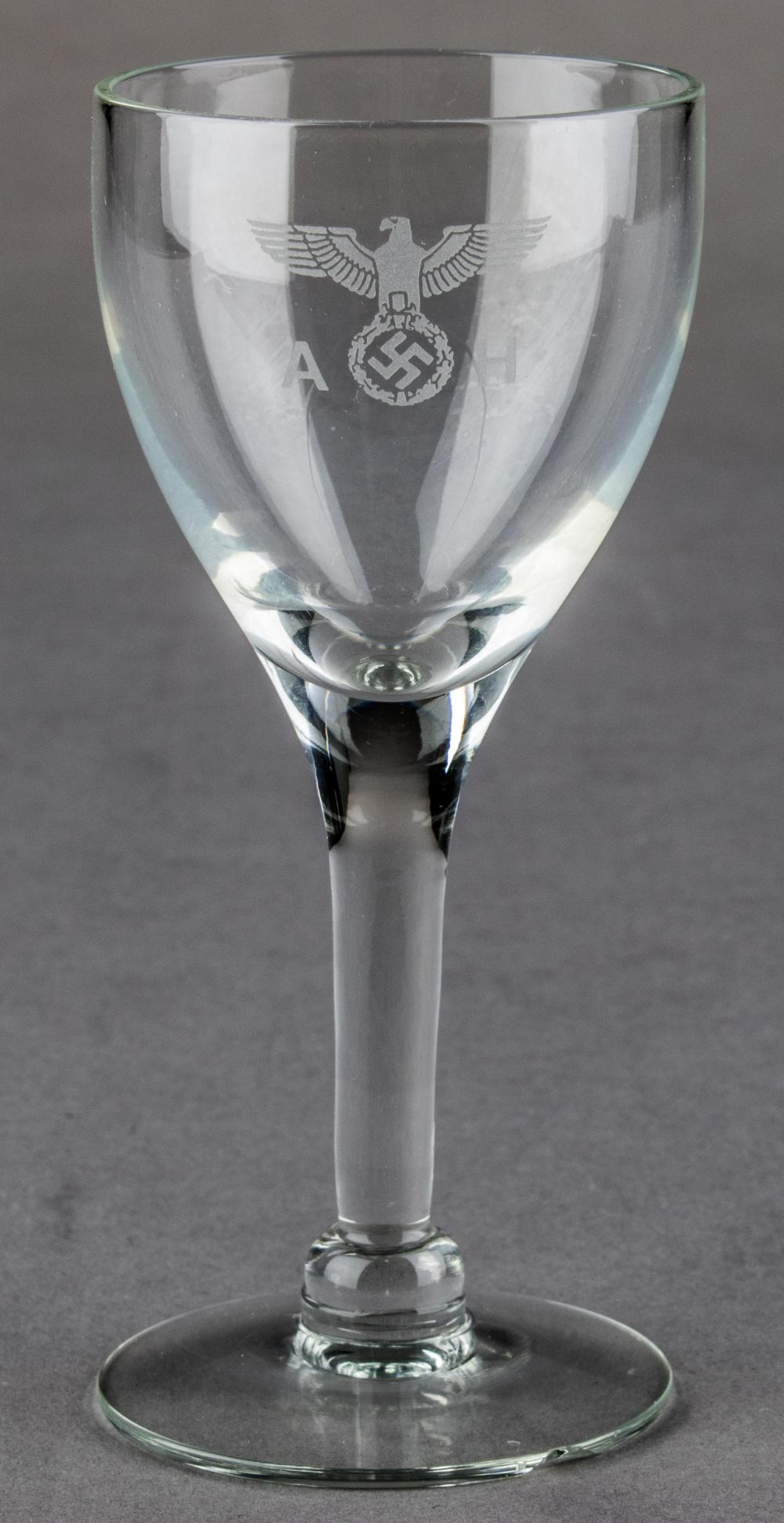ADOLF HITLER SCHNAPPS GLASS