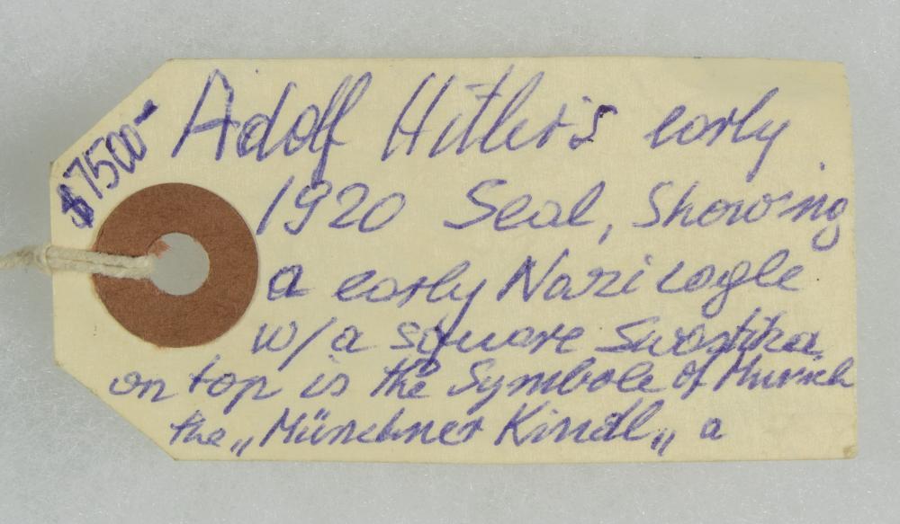 ADOLF HITLER WAX SEAL