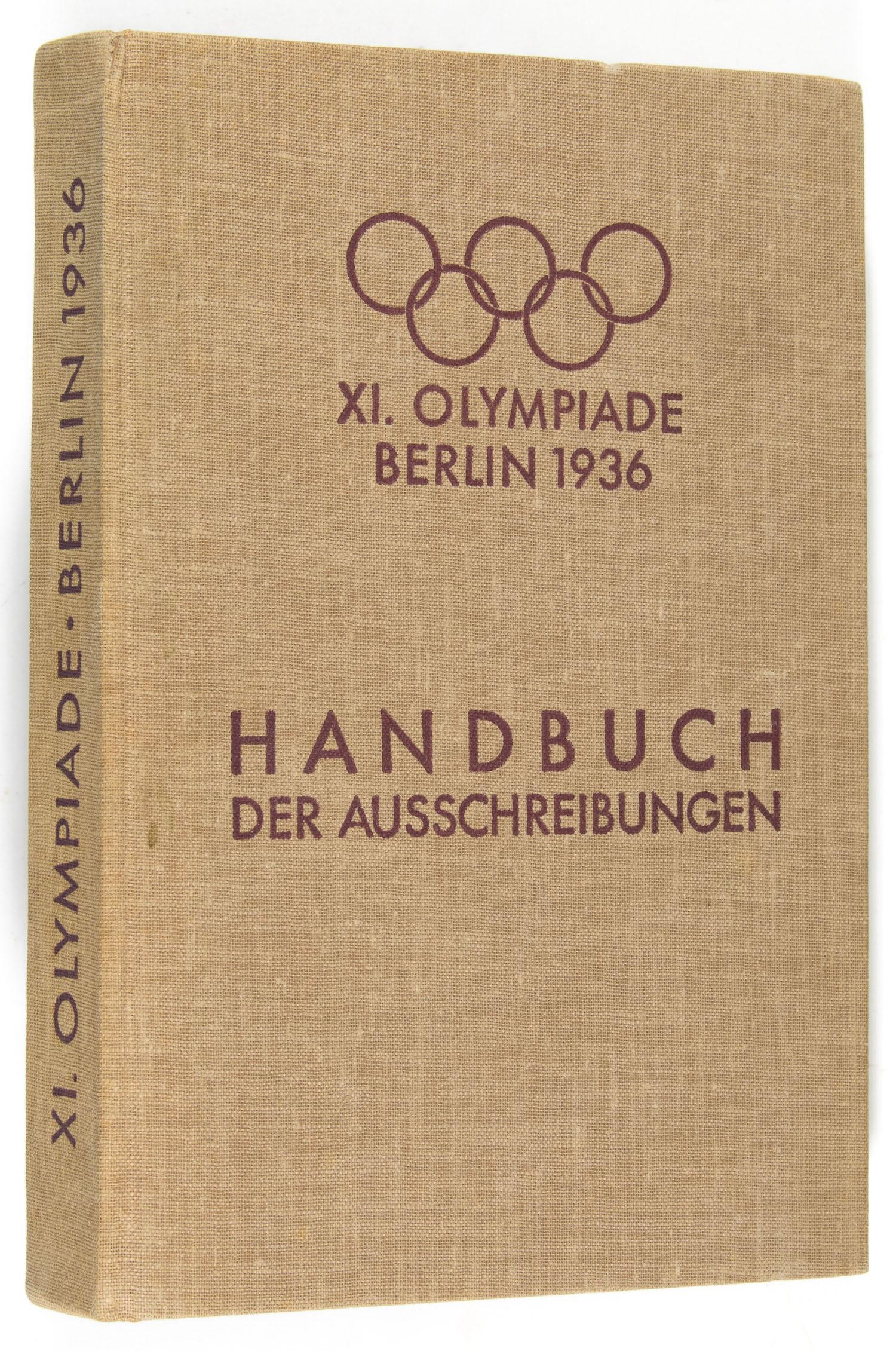 1936 BERLIN OLYMPICS REGULATIONS BOOK