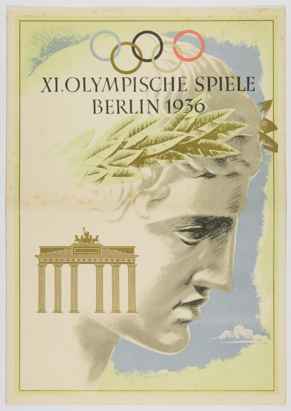 1936 BERLIN OLYMPICS TELEGRAM COVER