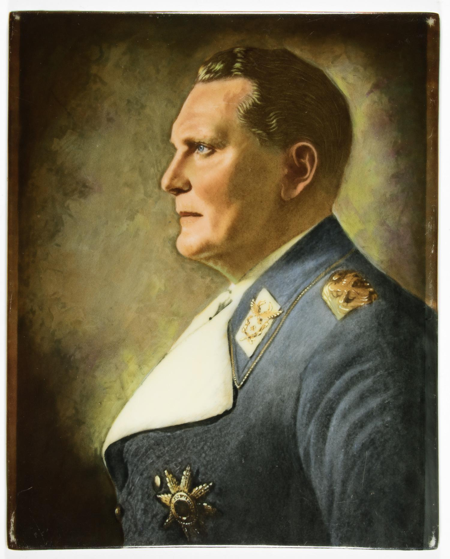ROSENTHAL PORCELAIN PORTRAIT OF HERMANN GORING