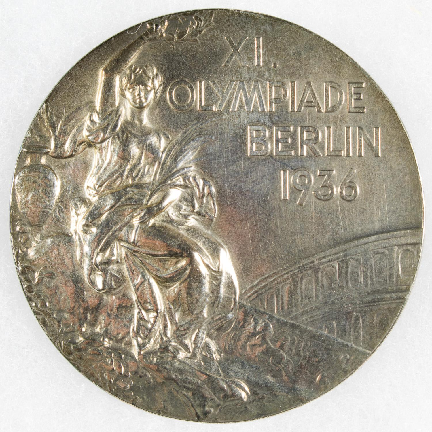 ORIGINAL SILVER MEDAL FROM THE 1936 BERLIN OLYMPICS