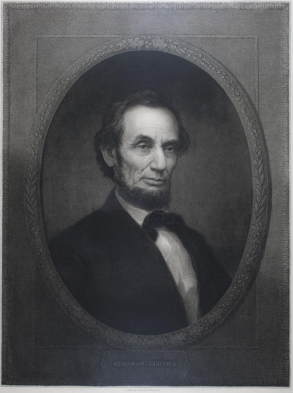 ABRAHAM LINCOLN ENGRAVING BY MARSHALL