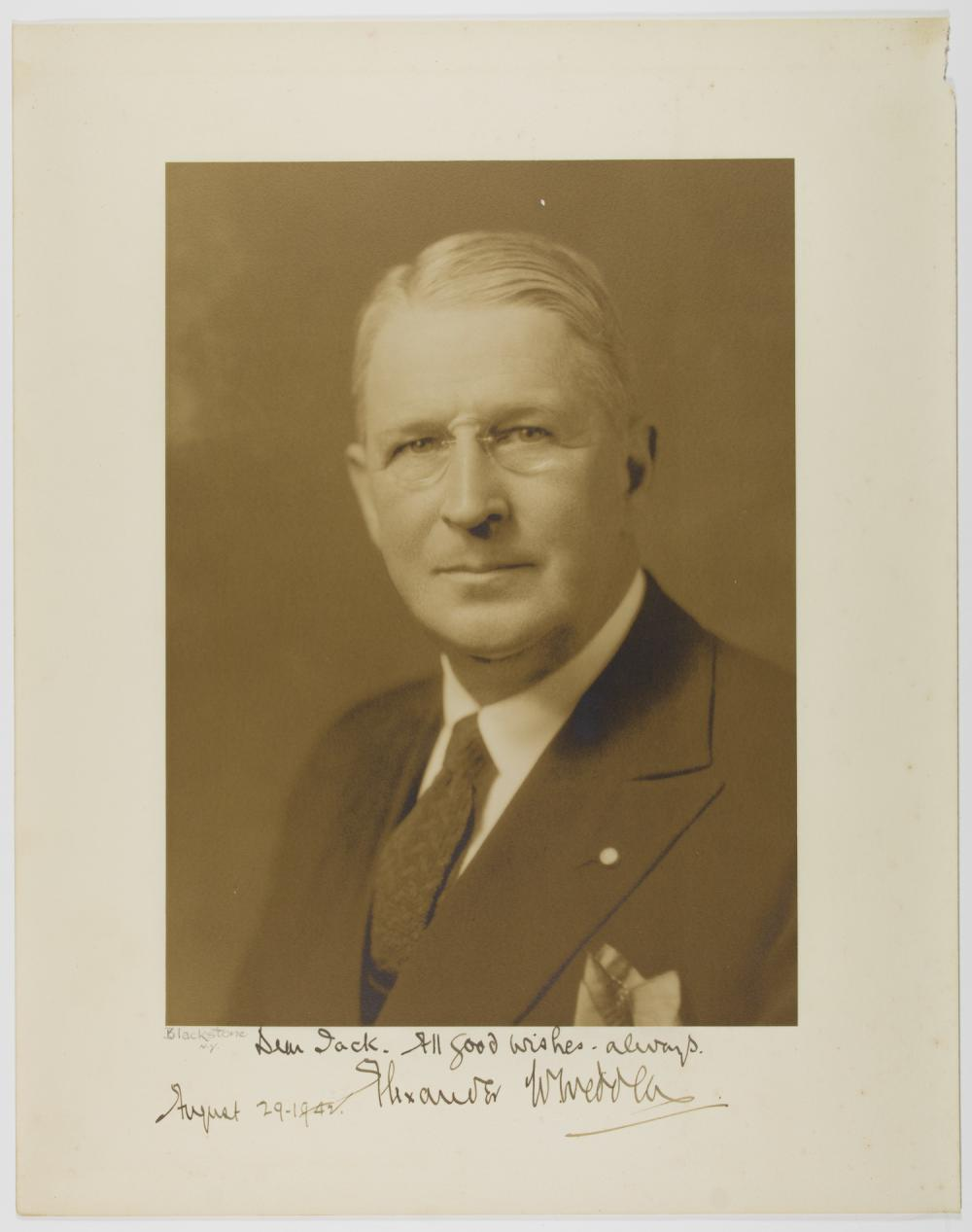 ALEXANDER W. WEDDELL