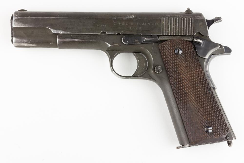 GEN. CLARENCE R. HUEBNER'S M1911 PISTOL AND HOLSTER, CARRIED THROUGHOUT WORLD WAR II