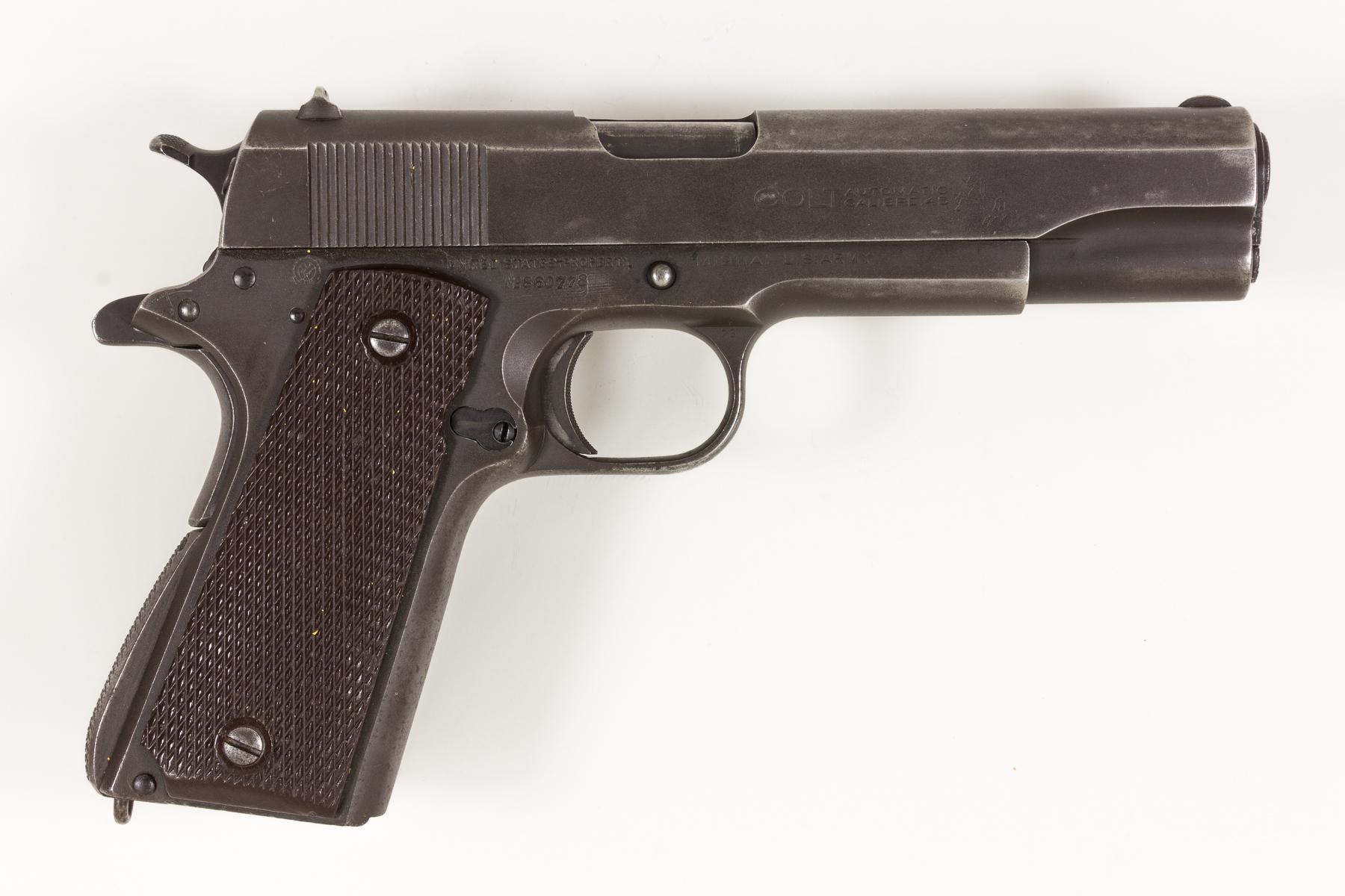 GEN. CLARENCE R. HUEBNER'S COLT M1911A1 PISTOL