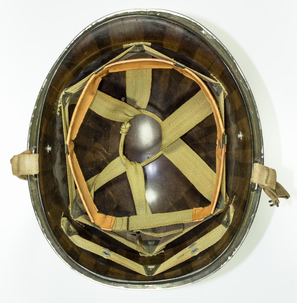 GEN. CLARENCE R. HUEBNER'S 1ST INFANTRY DIVISION D-DAY MAJOR GENERAL'S HELMET