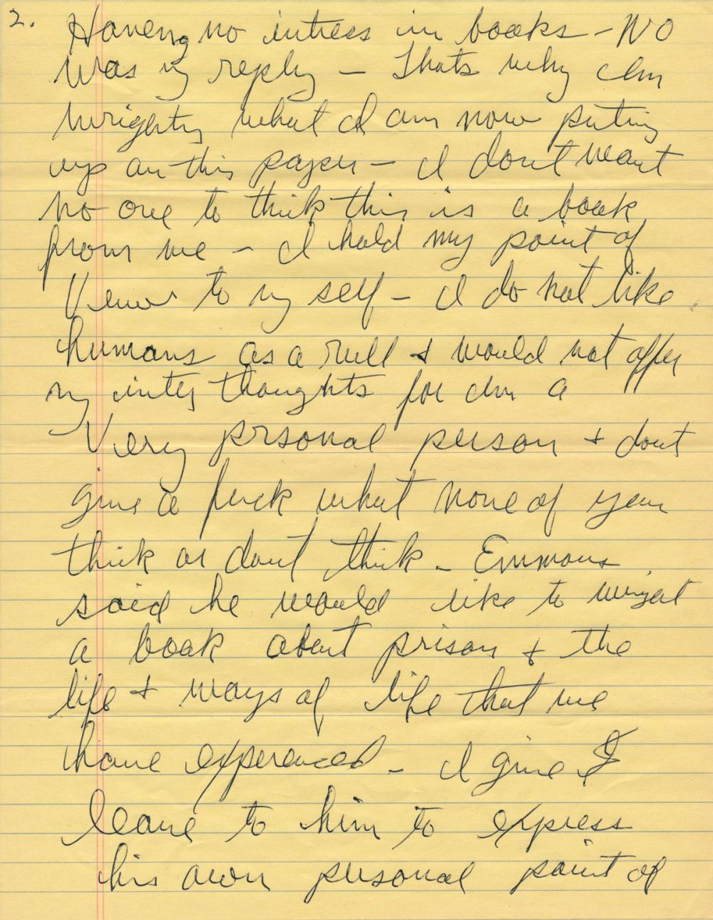CHARLES MANSON COMMENTS ON HIS AUTOBIOGRAPHY