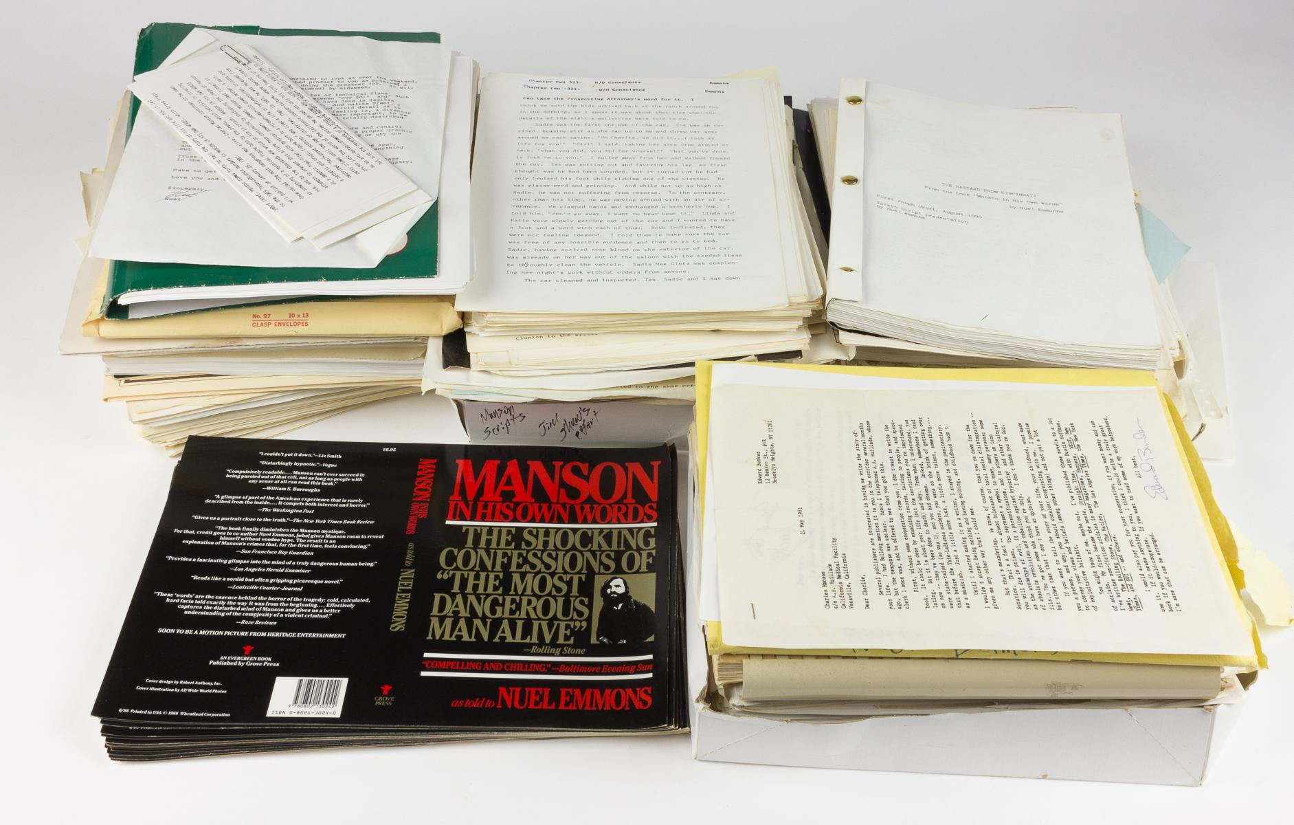 CHARLES MANSON AUTOBIOGRAPHY FILE OF NUEL EMMONS