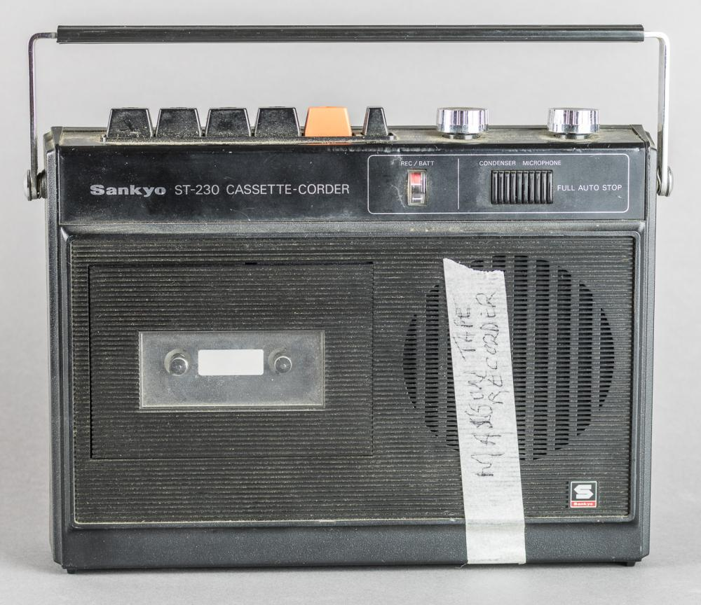 CHARLES MANSON'S PRISON CASSETTE TAPE RECORDER