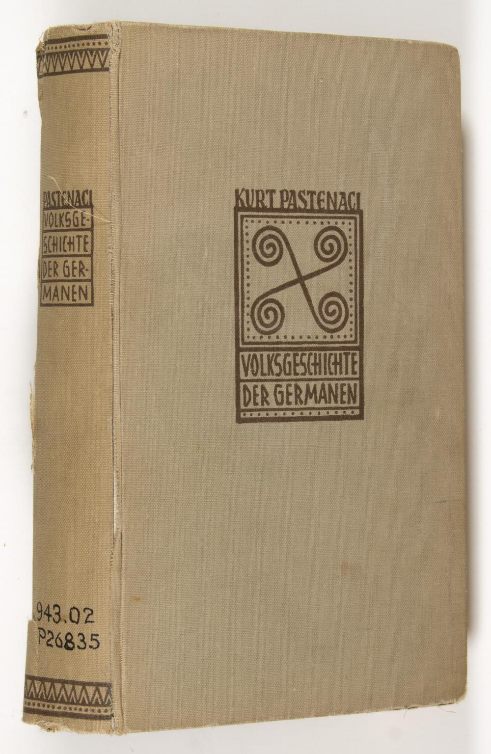 BOOK FROM THE LIBRARY OF NAZI TREASURER FRANZ SCHWARZ