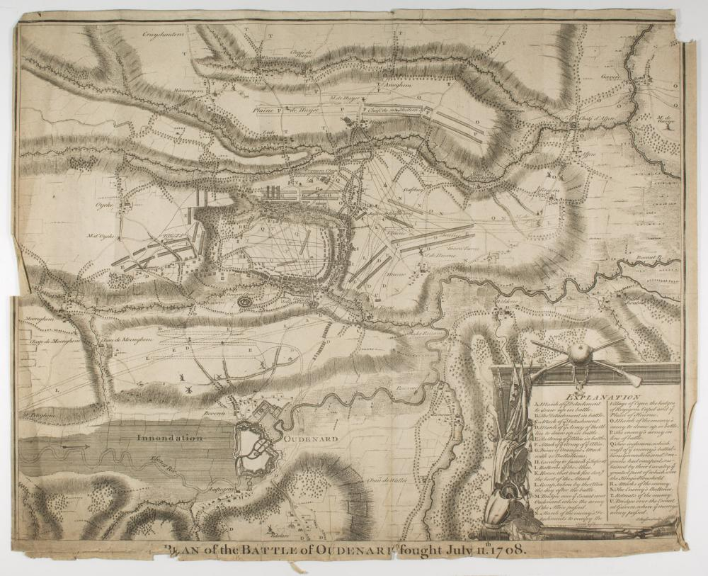 'PLAN OF THE BATTLE OF OUDENARD', OWNED BY GEN. CLARENCE R. HUEBNER