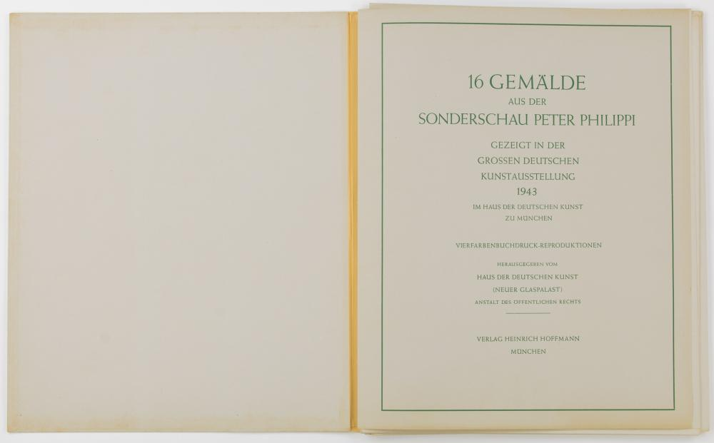 1943 'GREAT GERMAN ART EXHIBITION' PRINT SET, OWNED BY GEN. CLARENCE R. HUEBNER