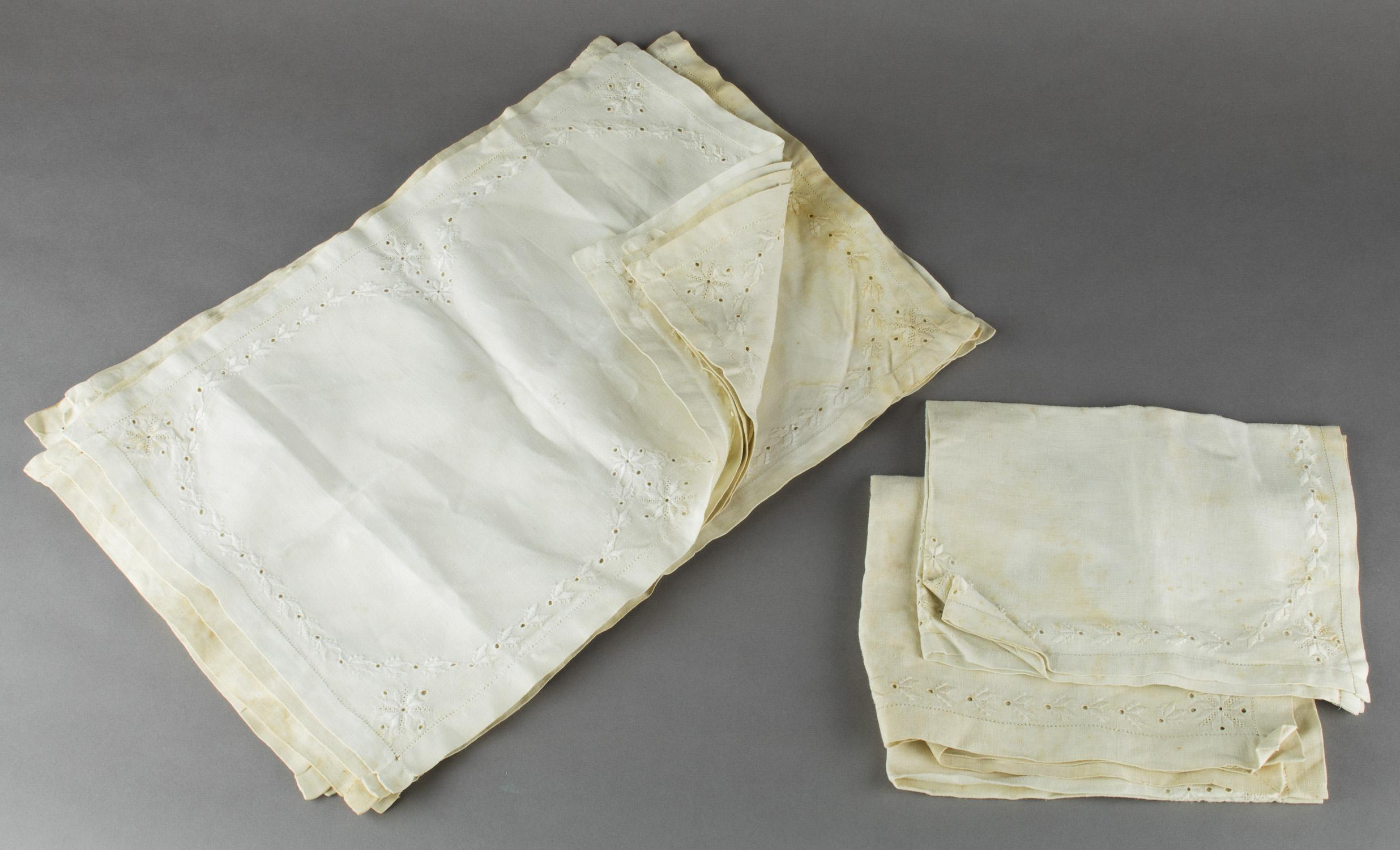 TABLE LINEN ATTRIBUTED TO HITLER'S BERGHOF