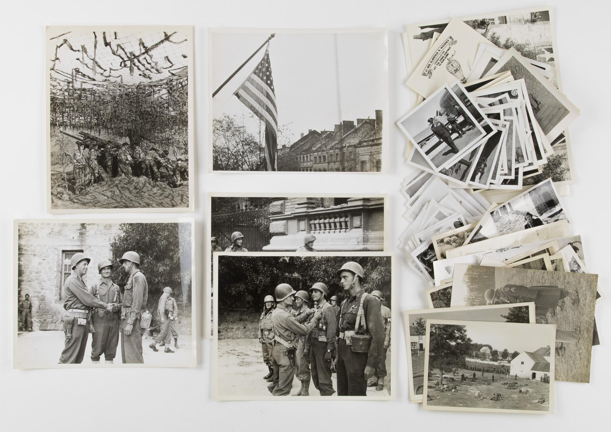 GEN. CLARENCE R. HUEBNER'S PHOTOGRAPH GROUPING (85+)