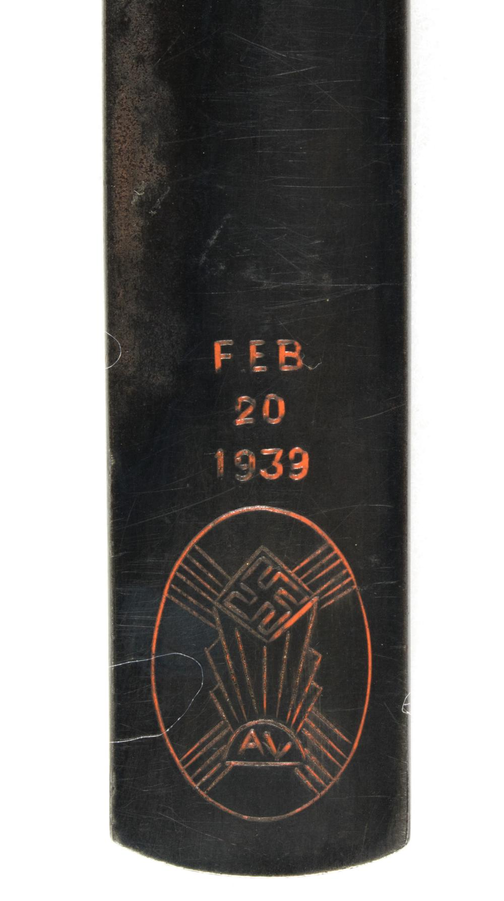 GERMAN-AMERICAN BUND COMMEMORATIVE LETTER OPENER