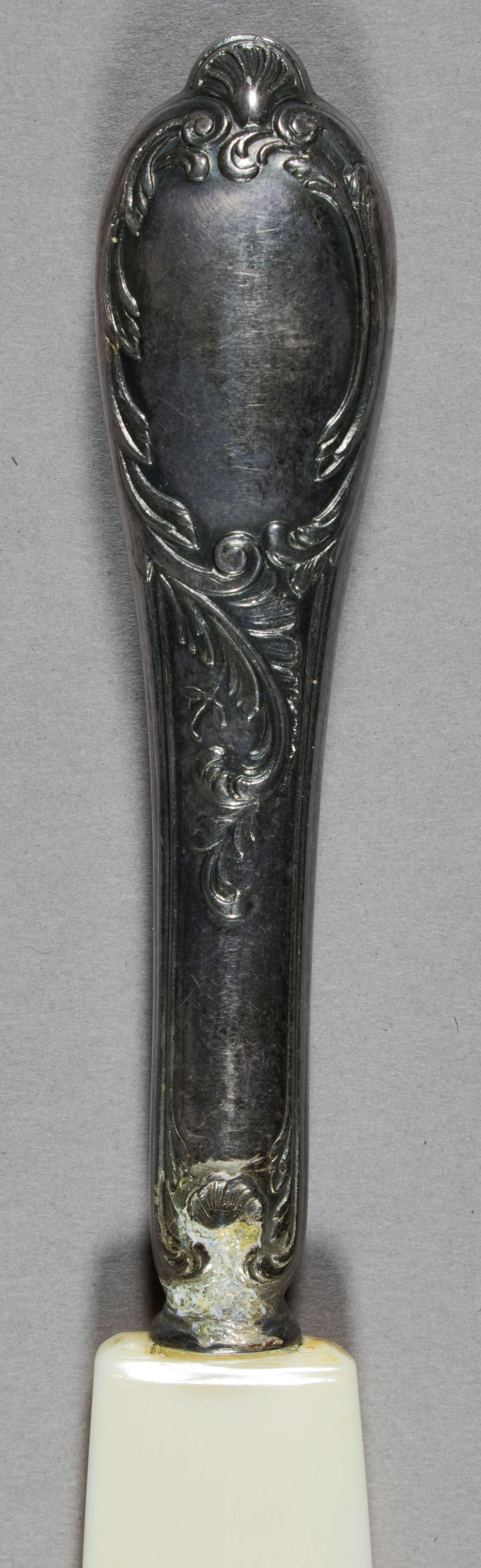 HERMANN GORING SILVER AND IVORY-COLOR FRUIT KNIFE