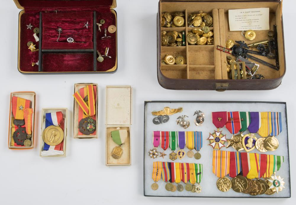 MEDAL, FLAG AND RELIC GROUPING OF USMC BRIGADIER GENERAL ROBERT B. CARNEY JR.