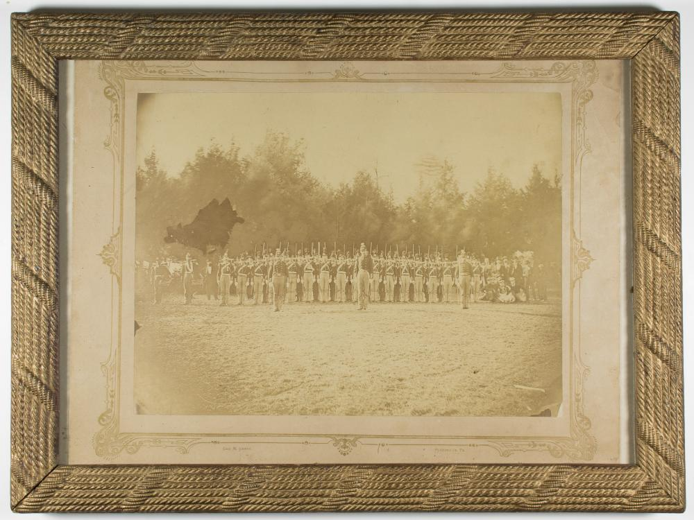 PENNSYLVANIA MILITIA REGIMENT'S ALBUMEN GROUP PHOTO