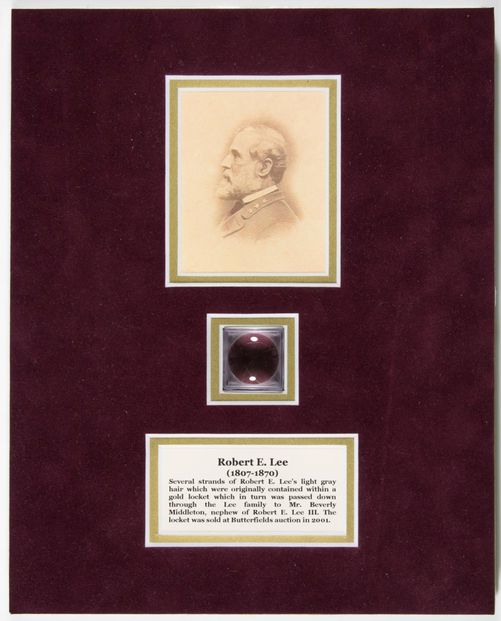 A SMALL LOCK OF ROBERT E. LEE'S HAIR