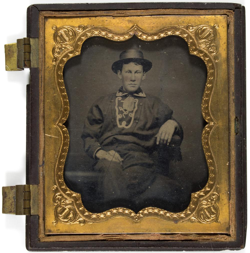 UNION SAILOR'S TARRED HAT, TINTYPE, AND SAILOR'S PALM