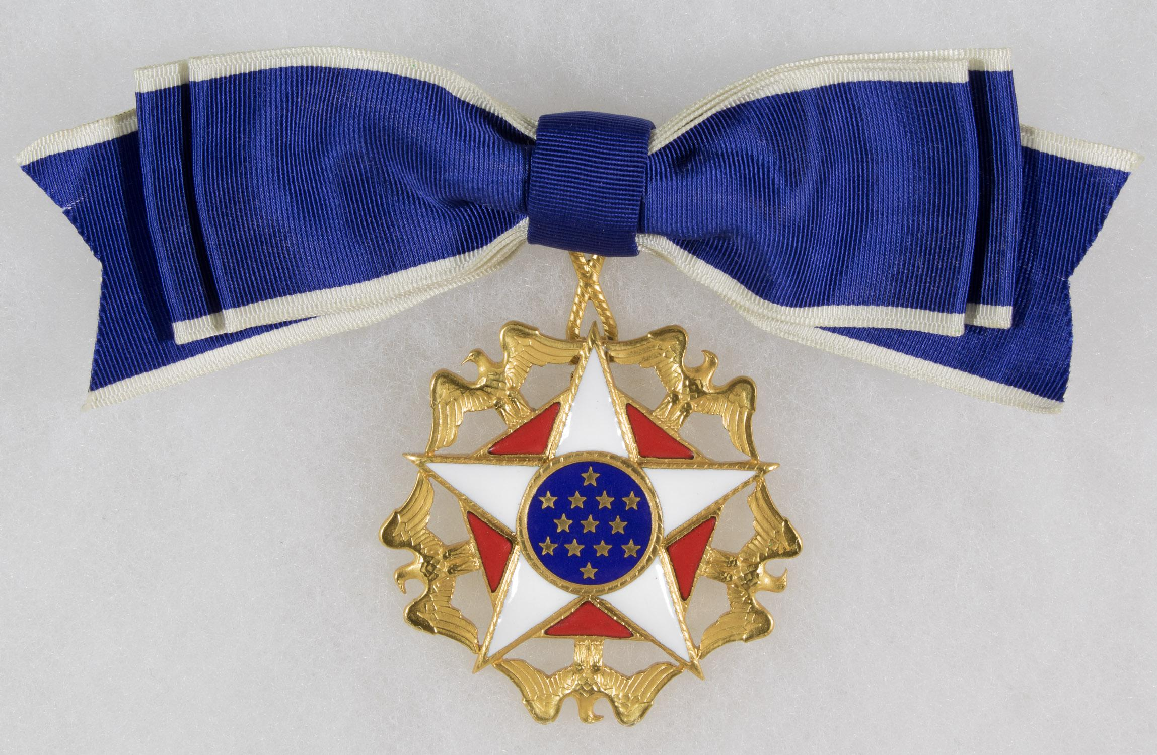 PRESIDENTIAL MEDAL OF FREEDOM PRESENTED TO ACTRESS MARTHA RAYE