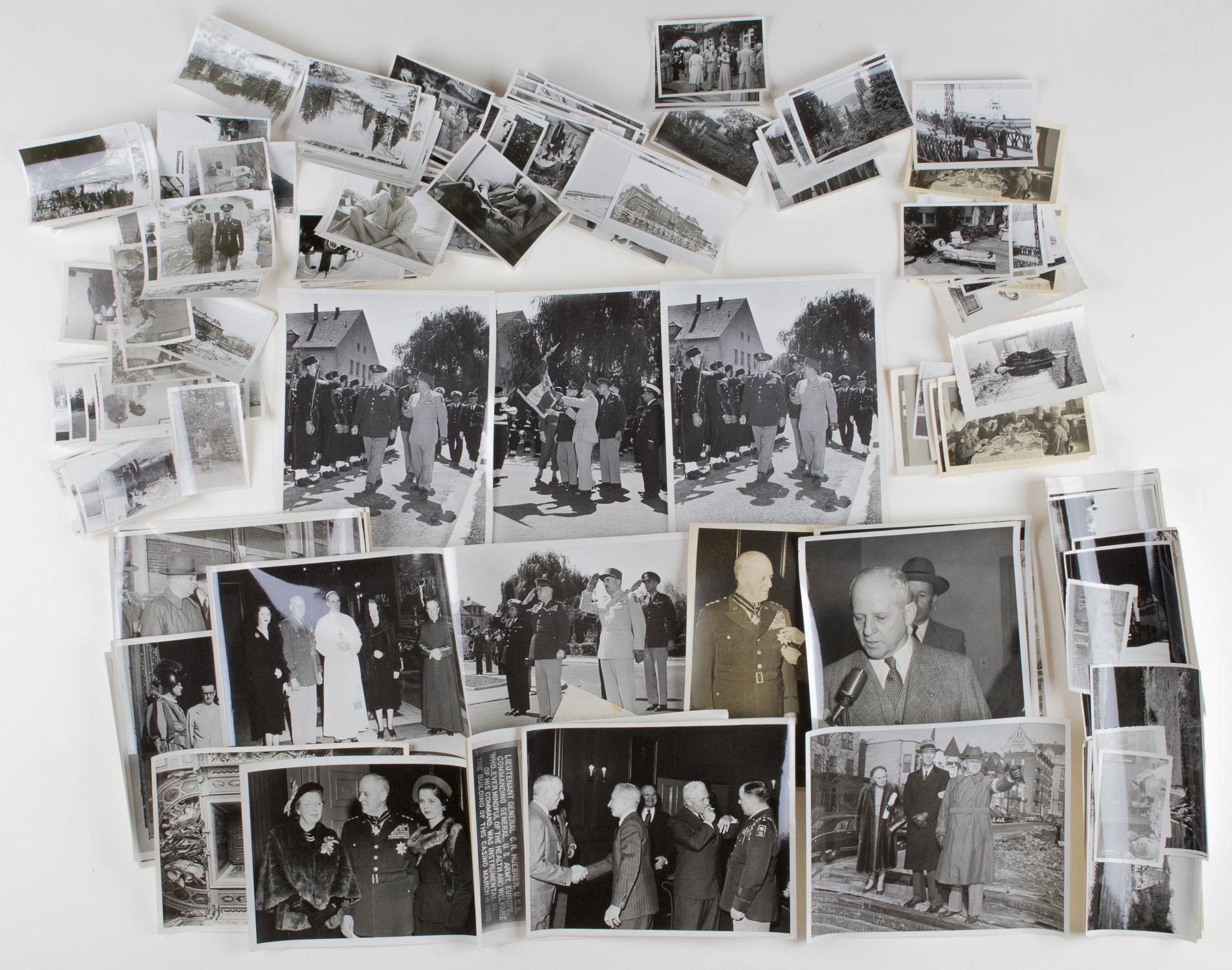 GEN. CLARENCE R. HUEBNER'S POSTWAR PHOTOGRAPHS (200+)