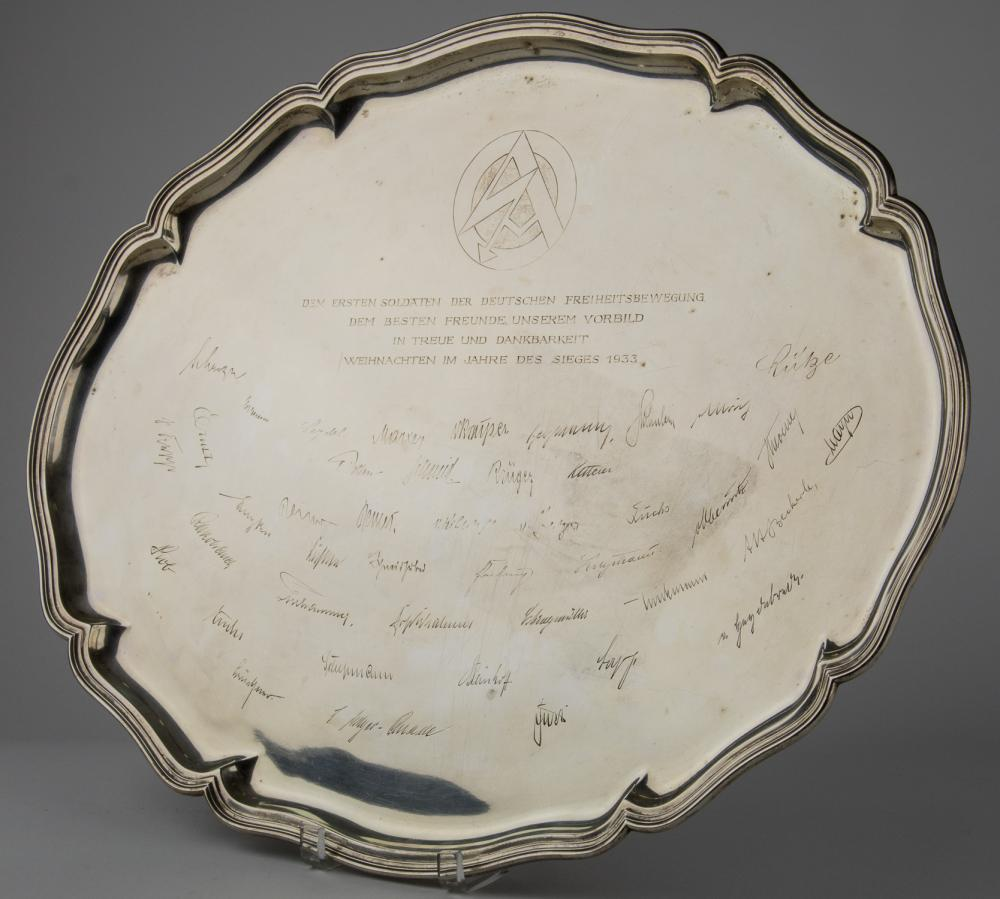 S.A. LEADERS PRESENTATION SILVER PLATTER TO ERNST ROHM, 1933
