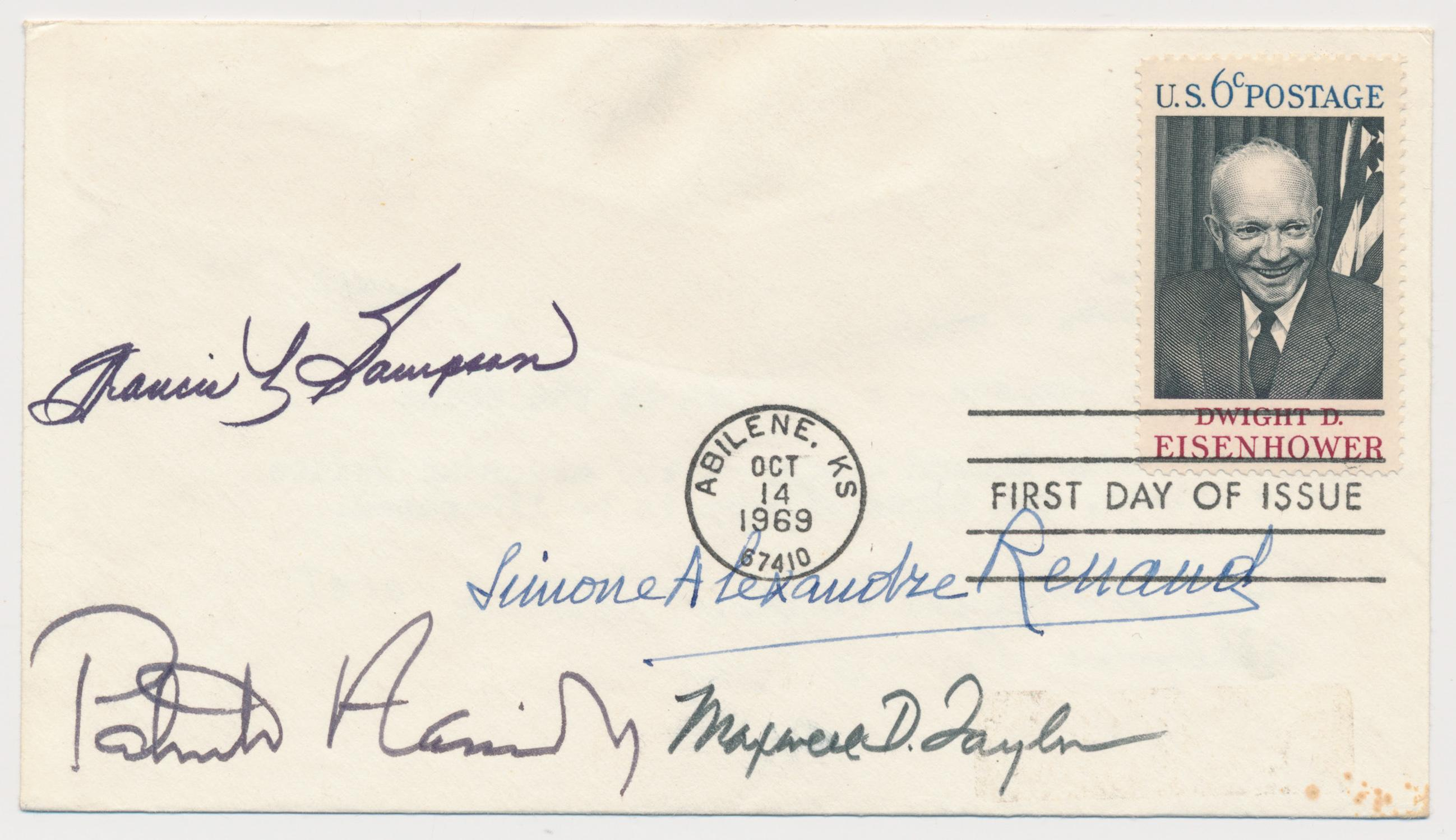 D DAY SIGNED ENVELOPE