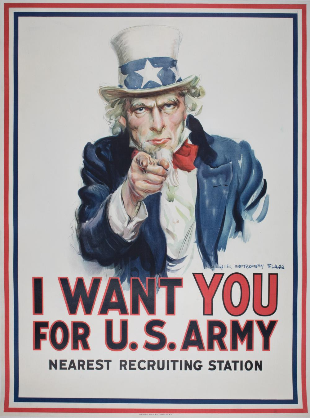 FIRST ISSUE OF FLAGG'S 'I WANT YOU' POSTER