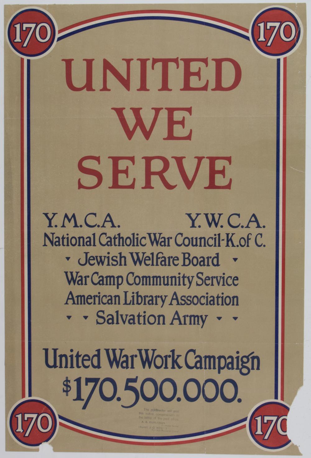 WORLD WAR I WAR BOND POSTERS (4)