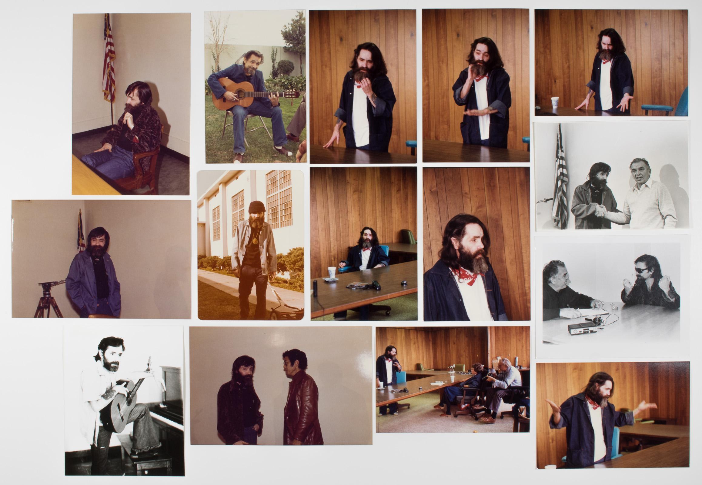 CHARLES MANSON PHOTOGRAPH GROUPING