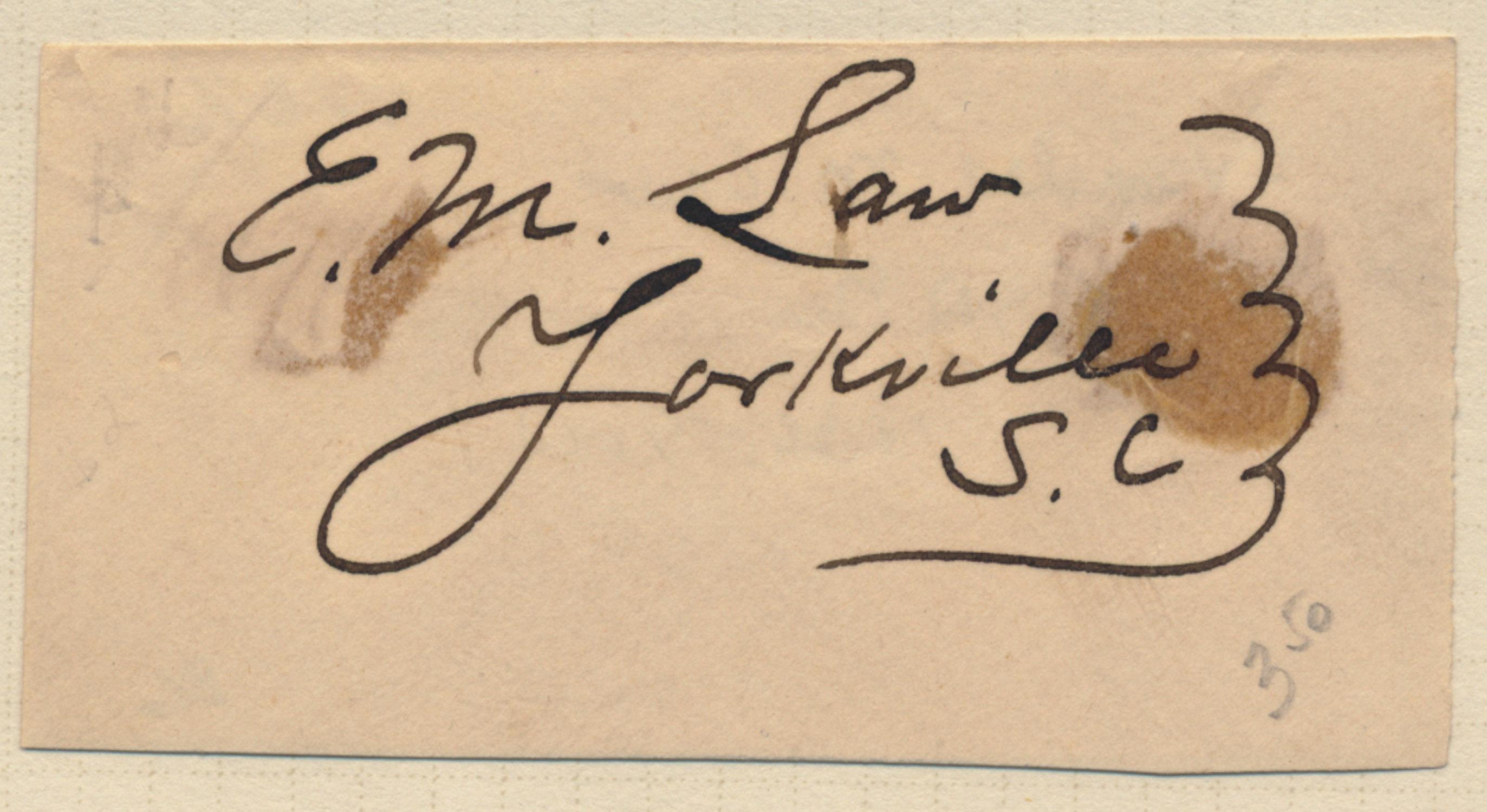 EVANDER M. LAW