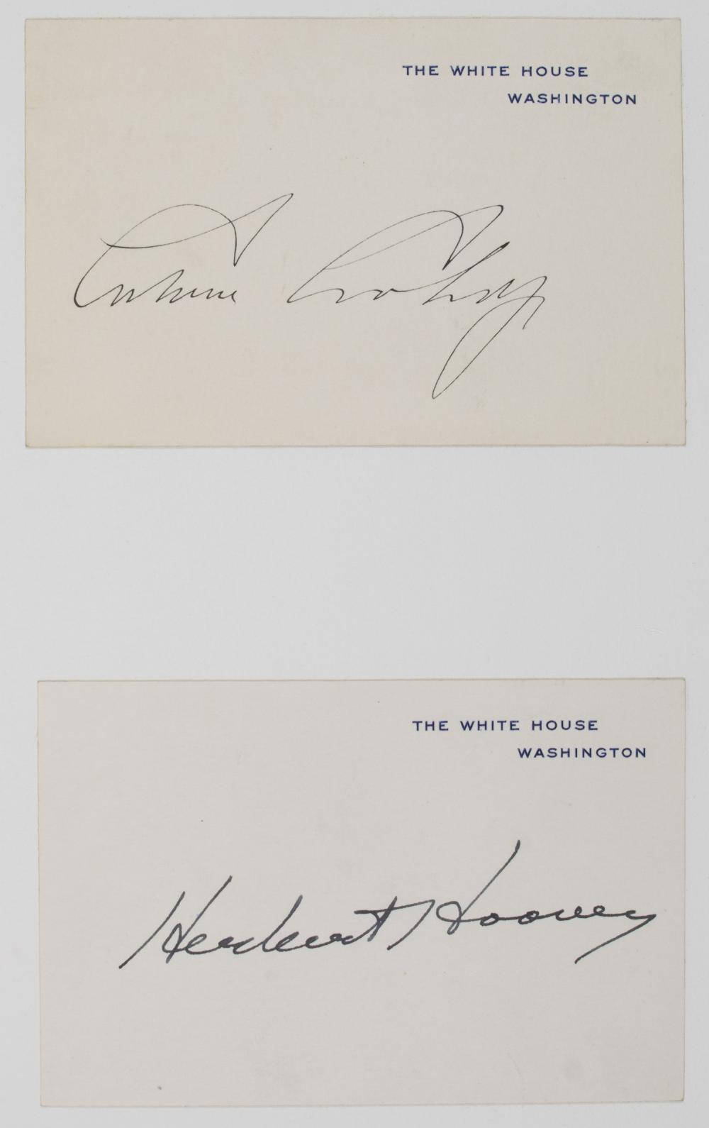 AUTOGRAPHS OF THE PRESIDENTS OF THE UNITED STATES